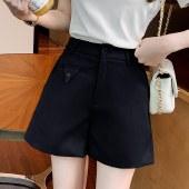海谜璃新款a字半身裤裙女时尚高腰修身西装阔腿裤HBF2762