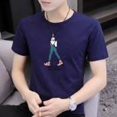 海谜璃夏季新款男士短袖t恤圆领打底衫体恤HBF2759