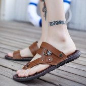 海谜璃夏季两用凉拖韩版防水防滑耐磨沙滩鞋人字拖HBX7235