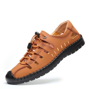 海谜璃镂空男士凉鞋洞洞轻便男鞋HBX7230