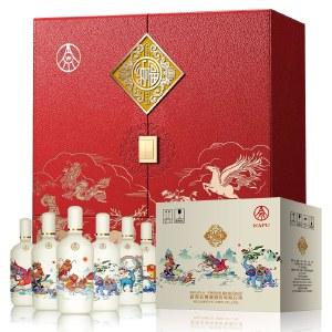 【6瓶整箱】五粮液 纳福 福满中华浓香型白酒500ml*6