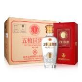 【6瓶整箱】五粮国宾·鉴赏浓香型白酒500ml*6瓶整箱装(配3个礼品袋)