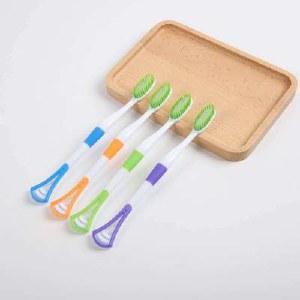 多功能软毛自带舌苔刷牙刷