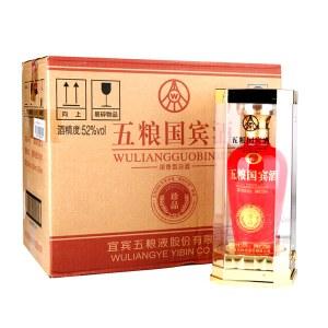 【6瓶整箱】五粮国宾·珍品浓香型白酒500ml*6瓶整箱装(配3个礼品袋)