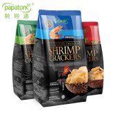 啪啪通印尼进口大虾片35%虾含量巴厘岛特产网红零食下午茶小吃85g*3包【新品上市】