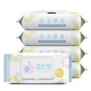 植护宝宝湿巾400抽/5包带盖便携湿巾纸婴儿手口湿纸巾