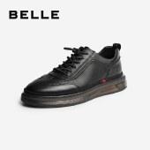 百丽Belle商务休闲皮鞋 男新商场同款牛皮工装鞋低帮鞋7AV01CM0