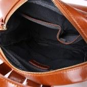 海谜璃女包时尚油蜡牛皮女双肩包旅行包学校风背包HBB0117