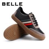 百丽Belle拼接休闲板鞋 男春新商场同款时尚板鞋7DU01AM1