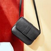 海谜璃复古质感小方包单肩包斜挎包优雅女士包包HBB0088