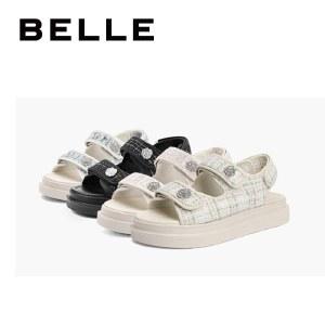 百丽Belle小香风凉鞋 女夏新商场同款气质仙女沙滩鞋W4D1DBL1