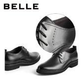 百丽Belle 商务正装皮鞋 男春新商场同款黑色牛皮鞋7CP01AM1