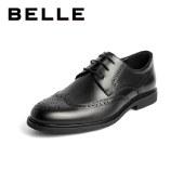 百丽Belle商务正装皮鞋 男春新皮牛皮革商务正装皮鞋布洛克雕花婚鞋89201AM1