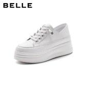 百丽Belle厚底小白鞋 女春新商场同款增高休闲板鞋W3E1DAM1