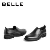 百丽Belle商务正装皮鞋 男春新商场同款牛皮革套脚百搭皮鞋7CP02AM1