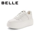 百丽Belle张小斐同款厚底小白鞋 女秋商场新款平底板鞋W6S1DCM1