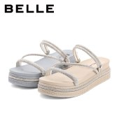 百丽Belle厚底凉鞋 女夏新商场同款时尚休闲度假风W3X1DBL1