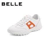 百丽Belle休闲小白鞋 女秋新商场同款运动阿甘鞋德训鞋W8C1DCM1