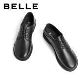 百丽Belle系带女子牛津小皮鞋 女春新商场同款牛皮英伦风皮鞋W4Y1DAM1