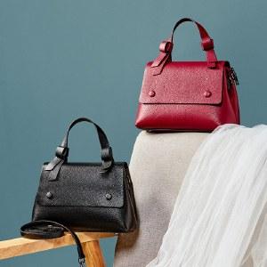海谜璃包包新款牛皮头层牛皮时尚潮女斜挎包单肩女士包手提女包HBB0119