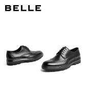 百丽Belle商务正装皮鞋 男商场新款布洛克英伦风皮鞋6ZD01CM0