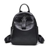海谜璃韩版时尚双肩包新款大容量学院风背包头层牛皮旅行背包HBB0123