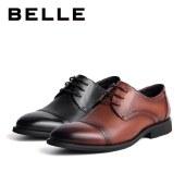 百丽Belle商务正装皮鞋 男春新商场同款牛皮商务正装皮鞋7CL01AM1