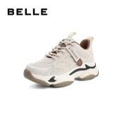 百丽Belle张小斐同款藏笼小虎牙 女春夏新商场同款运动厚底潮老爹鞋W2P3DAM1