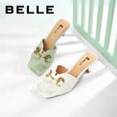 百丽Belle几何拖鞋 女夏新商场同款高跟拖鞋外穿时装拖鞋3LRC3BT1