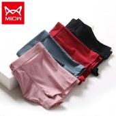 猫人男士内裤4条装平角裤四角裤透气青年短裤MR8006-4