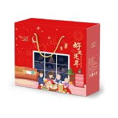 山义雨 坚果炒货年货 礼盒6包/1842g*1盒 开心果巴旦木纸皮核桃豌豆红枣多味花生 syy301