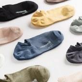 猫人5双装男士短袜纯棉透气袜子防臭吸汗抗菌运动船袜MR2010-5