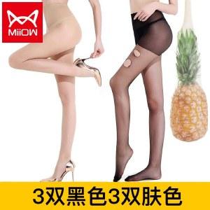 猫人6条装面膜袜加大码200斤丝袜防勾丝女士连裤袜MR5012-6
