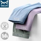 猫人男士内裤3条装抗菌无痕平角裤透气男生四角裤MR8018-3