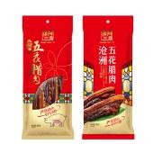 500g沧洲五花腊肉+福钰干红葡萄酒750ml
