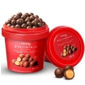卜珂零点 麦芽脆心球520g 麦丽素58%黑巧克力办公室小零食
