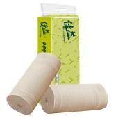 佳益丝竹实心扁卷纸巾本色竹浆卷筒纸厕纸32-64卷