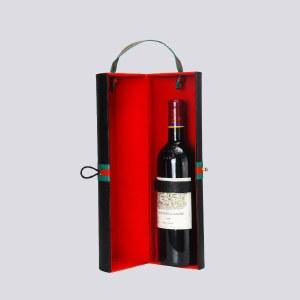 HW-110 酒无忧·单支圆筒皮盒