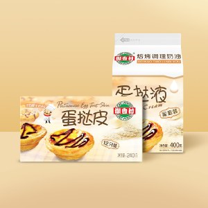 潮香村蛋挞皮蛋挞液套餐组合装240g*3+400g*3