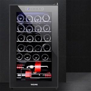 压缩机酒柜 (不锈钢架) 恒温家用冷藏葡萄酒架红酒柜子YS-C7024a
