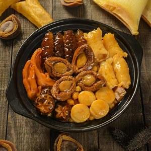 吉膳堂加热即食鲍汁小团圆佛跳墙海鲜鲍鱼正宗大盆菜年夜饭礼盒