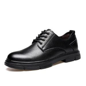 寒丝琪 皮鞋男商务正装真皮德比鞋英伦韩版复古男士皮鞋 26450