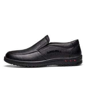 寒丝琪 真皮男鞋舒适耐磨防滑中老年皮鞋 26555