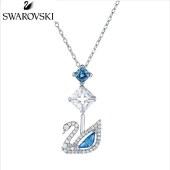 SWAROVSKI施华洛世奇125周年纪念款 蓝调天鹅项链5530625