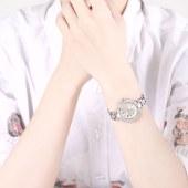 TIME100 芭比典雅系列 简约时尚闪钻手链石英女表