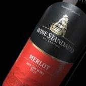乌标红酒5号 干红葡萄酒美乐摩标