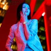Armani阿玛尼佟丽娅同款 轻奢满钻满天星石英手表AR11293